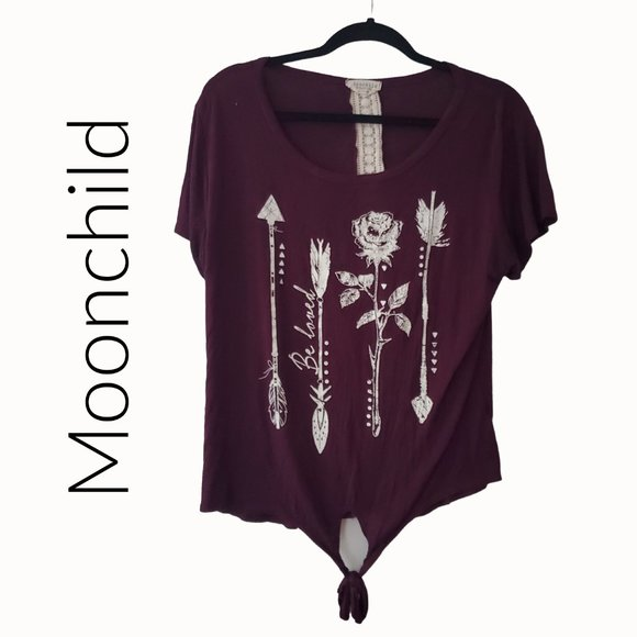 moonchild Tops - Moonchild BE LOVED bling t-shirt size XL